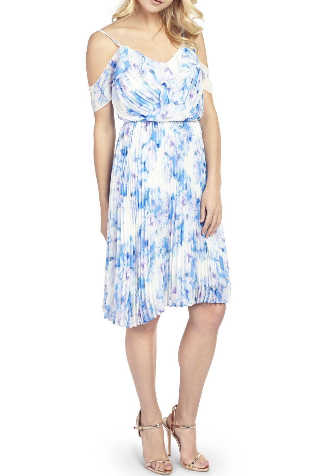 Wolf & Whistle Sasha Floral Dress - Front Cropped Image