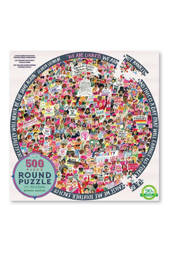 Eeboo Women March! 500 Piece Round Puzzle - Product List Image