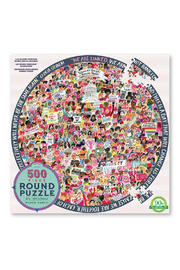 Eeboo Women March! 500 Piece Round Puzzle - Product Mini Image