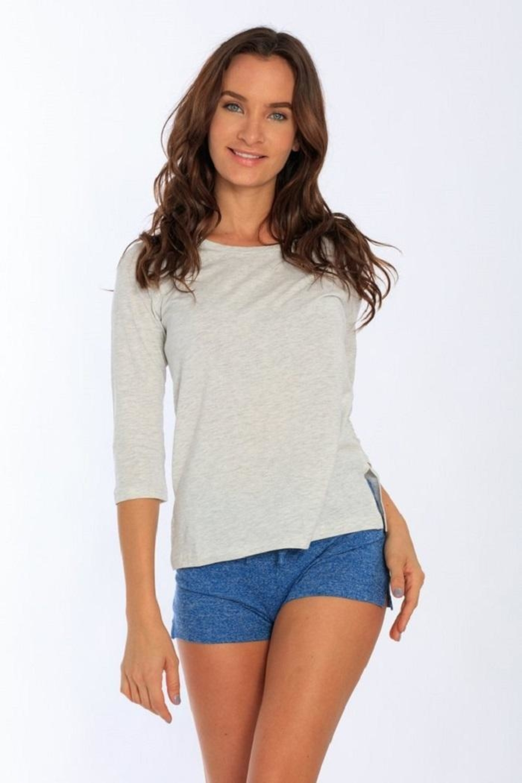 Miami Style Women's 3/4 Sleeve - Front Cropped Image