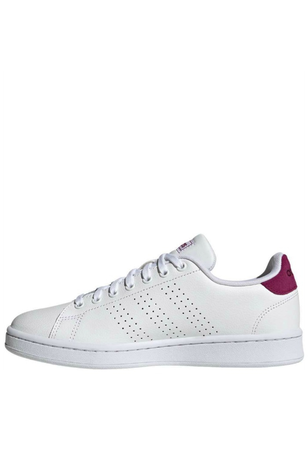 adidas Women's Adidas Advantage in White/Powder Berry - Front Full Image