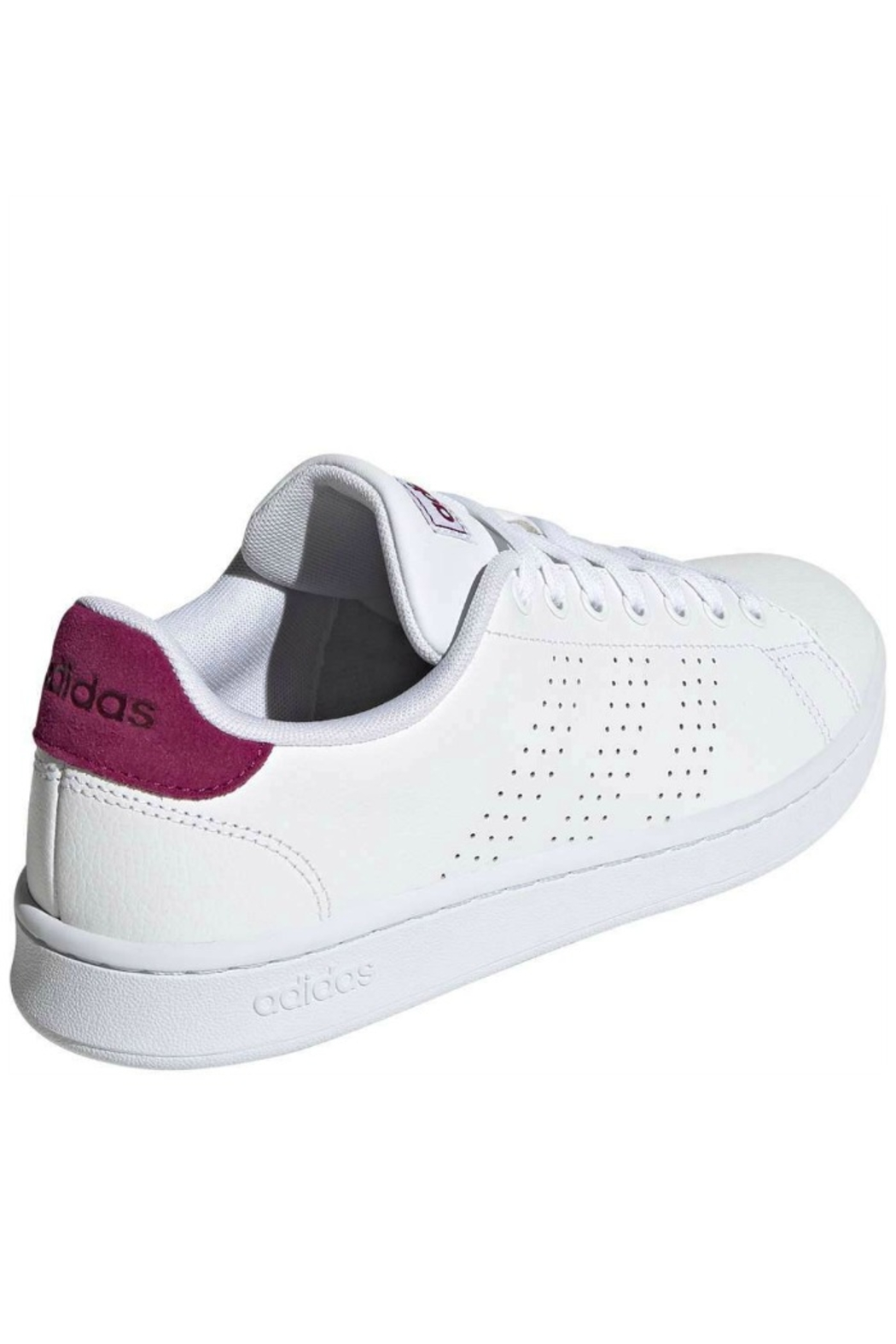 adidas Women's Adidas Advantage in White/Powder Berry - Side Cropped Image