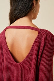 Hayden Los Angeles Women's Cutout Bell-Sleeve Crew-Neck Sweater Top - Back cropped