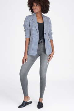 Shoptiques Product: Women's Distressed Denim Skinny Pants in Gray