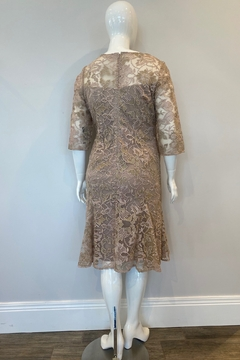 Alex Evenings Women's Embroidered Lace Flared Dress, Nude/Multi - Alternate List Image