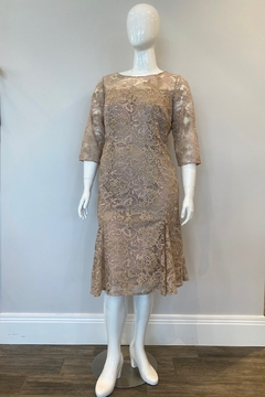 Alex Evenings Women's Embroidered Lace Flared Dress, Nude/Multi - Product List Image
