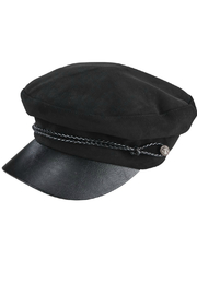 San Diego Hat Company WOMEN'S FAUX SUEDE GREEK FISHERMAN CAP - Front cropped