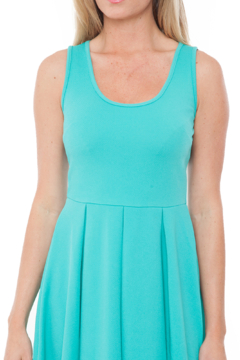 White Mark  Women's Fit and Flare Crystal Dress - Alternate List Image