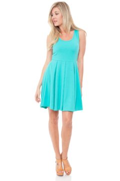 White Mark  Women's Fit and Flare Crystal Dress - Product List Image