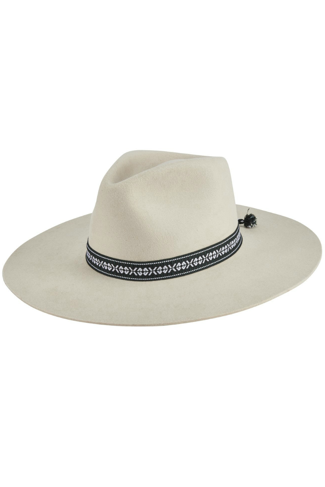 San Diego Hat Company WOMEN'S PINCH CROWN STIFF BRIM FEDORA WITH JAQUARD BAND - Main Image