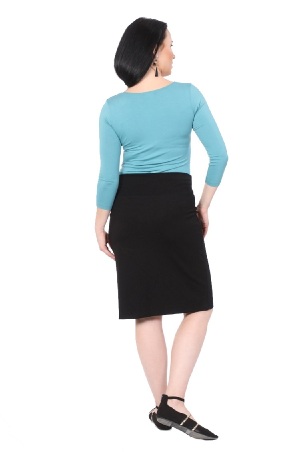 Kosher Casual Women's Stretch Pencil Skirt - Front Full Image
