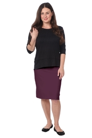 Kosher Casual Women's Stretch Pencil Skirt - Front cropped