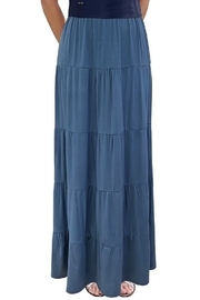 Baby O Women's Tiered Boho Maxi Skirt - Front cropped