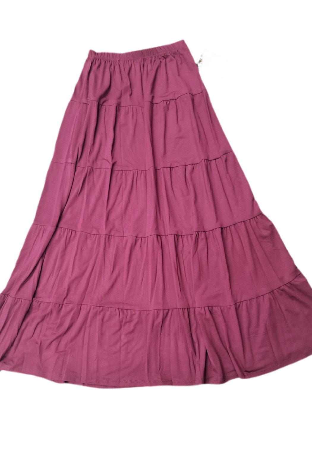 Baby O Women's Tiered Boho Maxi Skirt - Front Cropped Image