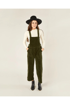 Rylee and Cru Women's Wide Leg Overall - Forest - Product List Image