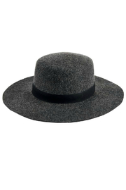 San Diego Hat Company WOMEN'S WOOL FELT WIDE BRIM BOATER WITH LEATHER BAND - Product Mini Image