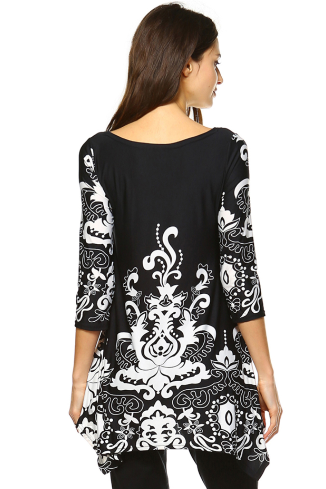White Mark  Women's Yanette Tunic Top - Side Cropped Image