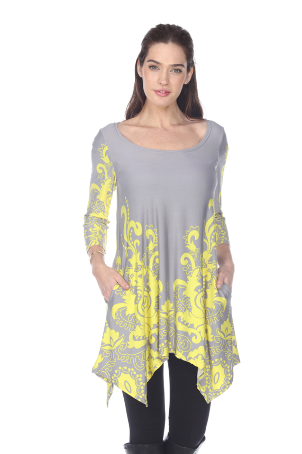 White Mark  Women's Yanette Tunic Top - Front Cropped Image
