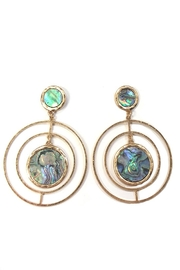 Wona Trading Intricate-Circular Abalone Earrings - Front cropped