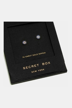 Wona Trading Secret-Box - Gold-Dipped-Crystal Evil-Eye-Studs - Alternate List Image