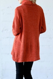Wonderland Button Tab Turtleneck - Front full body