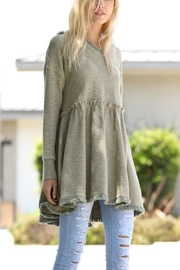 Wonderland Hooded Hi-Low Tunic - Front full body