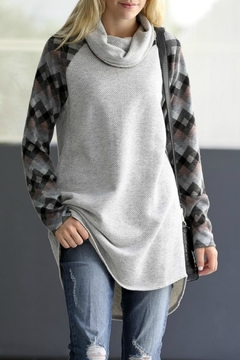 Shoptiques Product: Patterned Sleeve Top