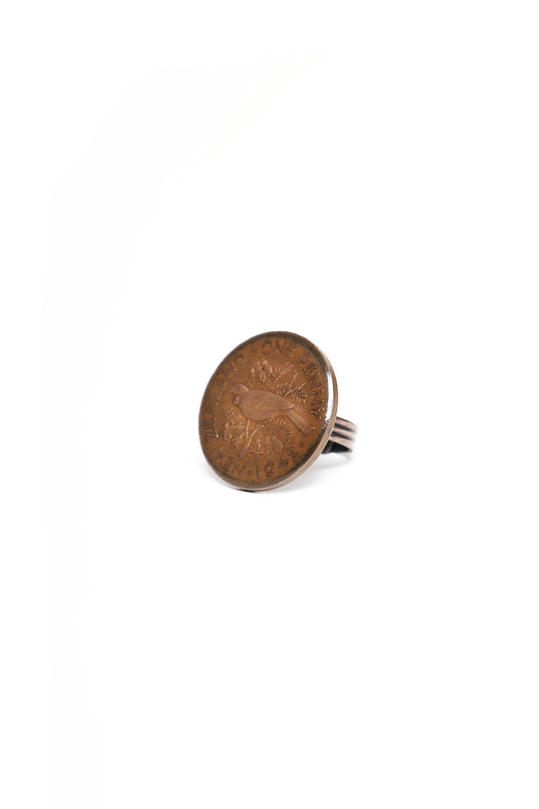 Wonderland Raglan Coin Ring One Penny - Main Image