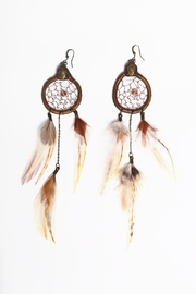 Wonderland Raglan Cruelty Free Feather Earrings - Product Mini Image
