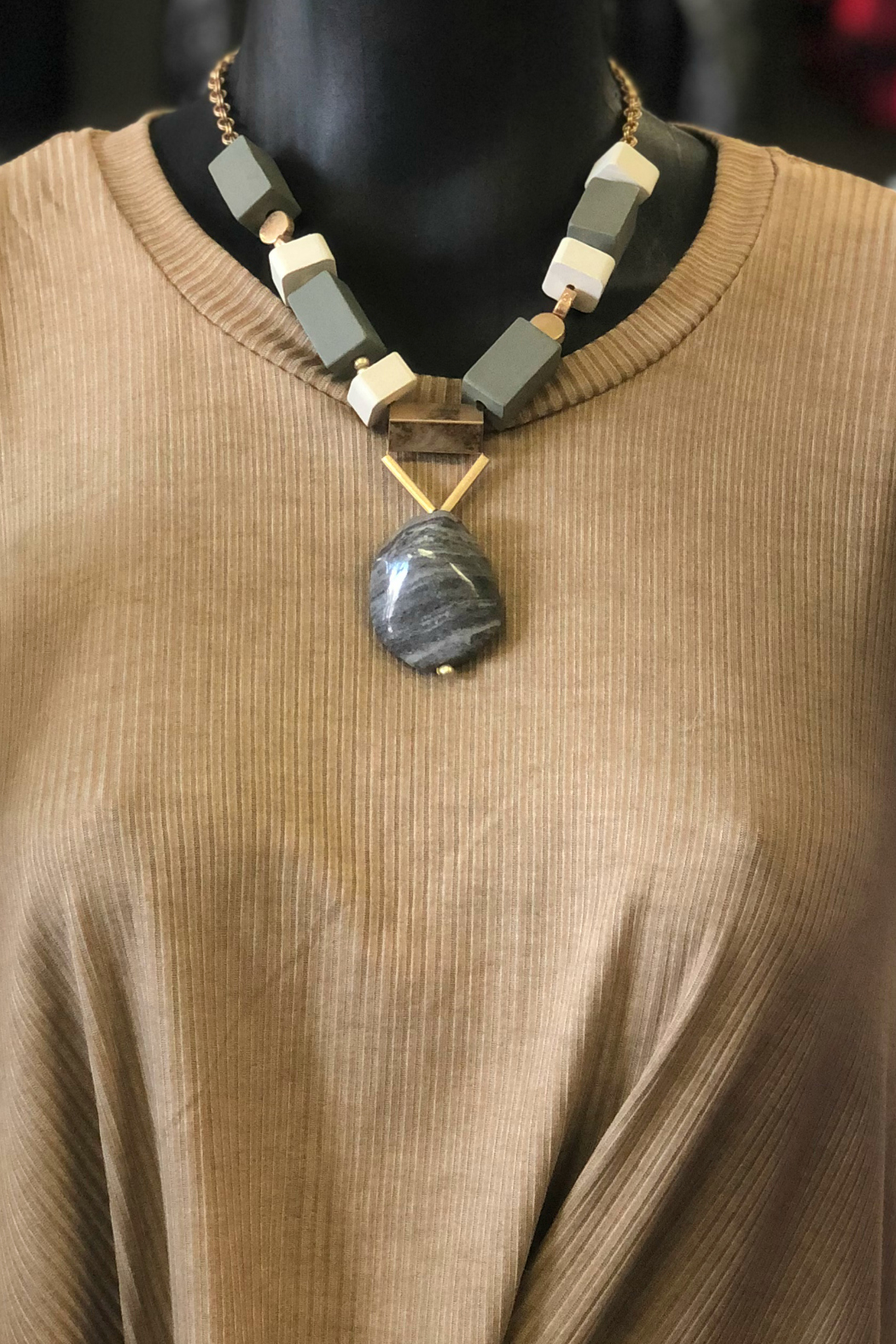 Gift Craft wood Ally Necklace - Main Image