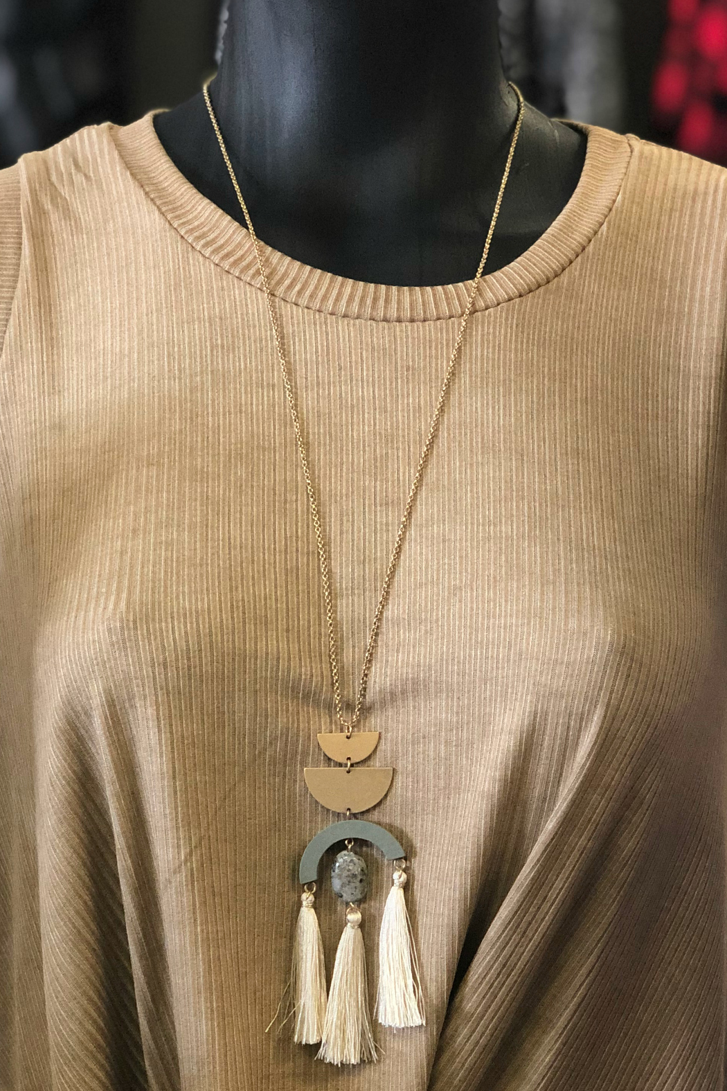 Gift Craft wood Ally Necklace - Front Cropped Image