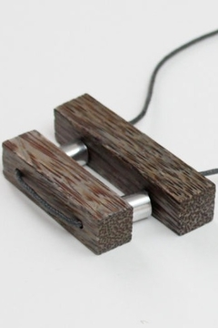 Sylca Wood Bar Necklace - Alternate List Image