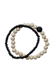 bops Wood Bead Double Bracelet Set - Product Mini Image