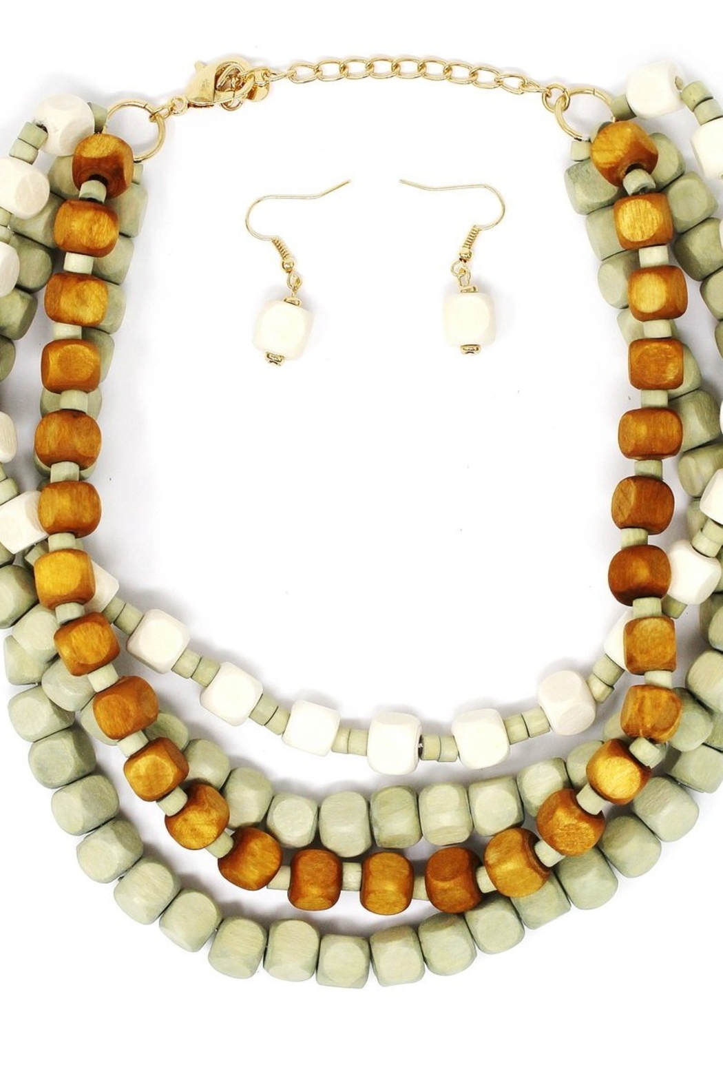US Jewelry House Wood Bead Necklace Set - Main Image