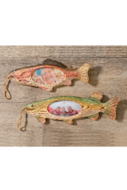 Giftcraft Inc.  Wood Carved Fish Frame - Front cropped