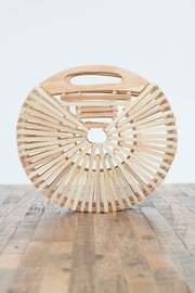 Love Stitch Wood Circle Clutch - Product Mini Image