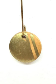 Leah Sturgis Wood Earrings - Small Gold - Product Mini Image