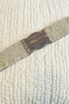 Pink House Wood Hook Buckle Belt - Alternate List Image