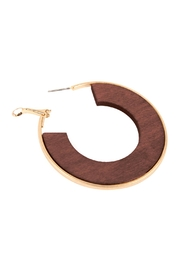 Riah Fashion Wood Hoop Earrings - Product Mini Image