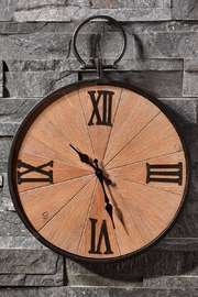 Giftcraft Inc.  Wood Metal Clock - Product Mini Image