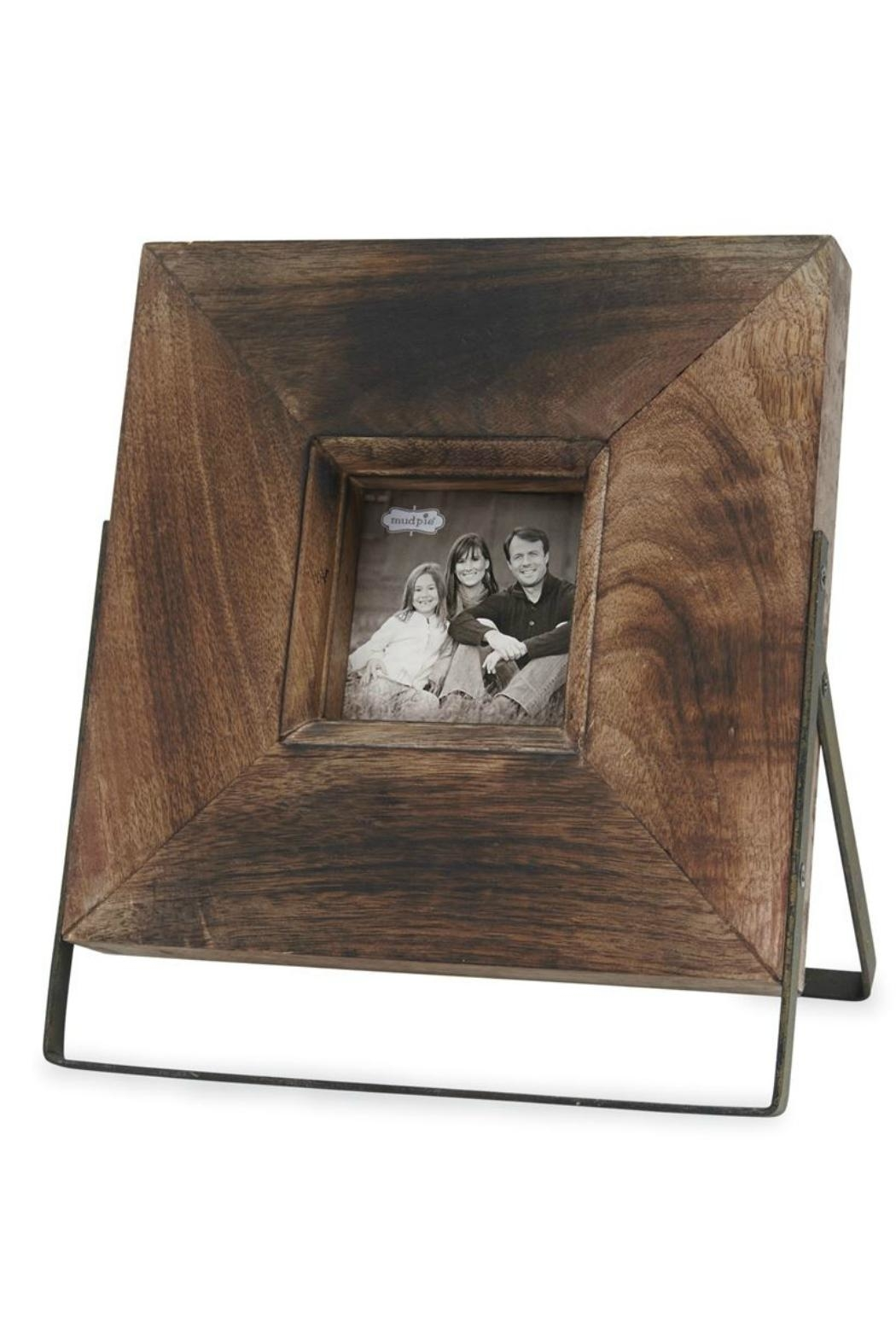 Mud Pie Wood-Metal Easel Frame - Front Cropped Image