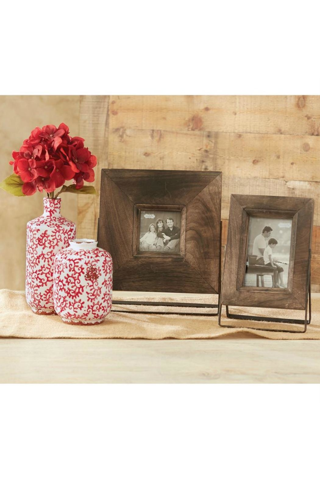 Mud Pie Wood/metal Easel Frame-Small - Front Full Image