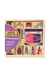 Melissa & Doug Wood Princess Stamp Kit - Product Mini Image