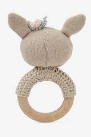 Elegant Baby Wood Rattle - Front full body