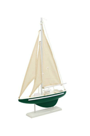 DEI WOOD SAIL BOAT - Front cropped
