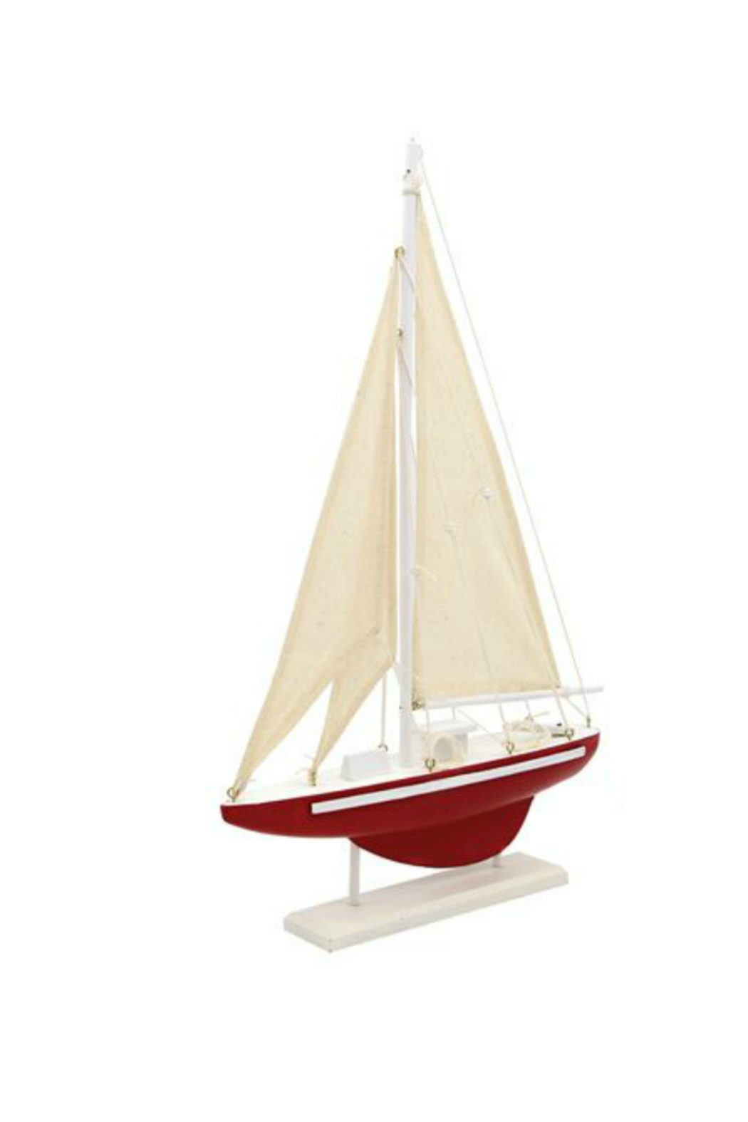 DEI WOOD SAIL BOAT - Front Cropped Image