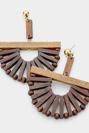 TIGERLILY Wood Statement Earrings - Product Mini Image