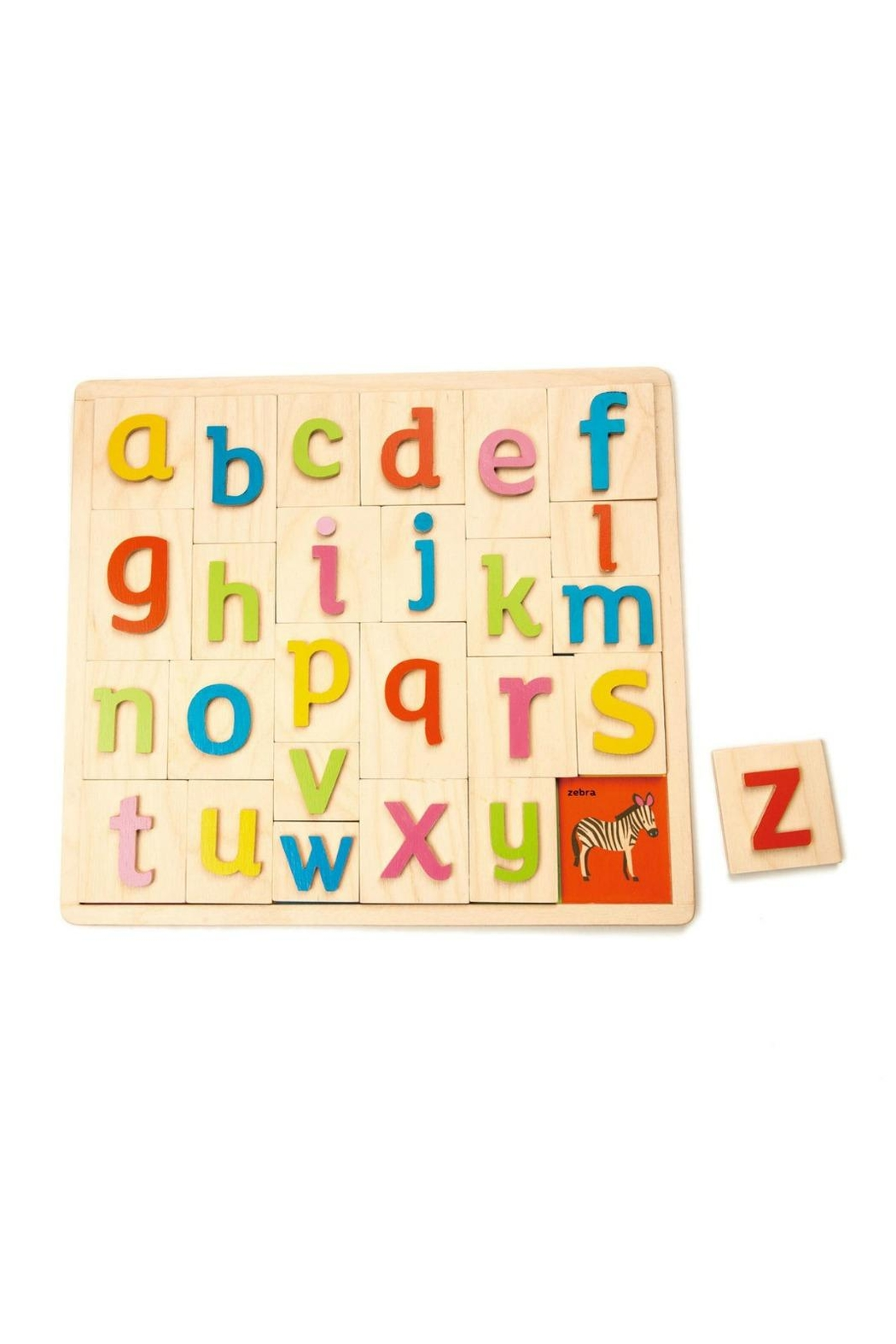 Tender Leaf Toys Wooden Alphabet Tray - Main Image