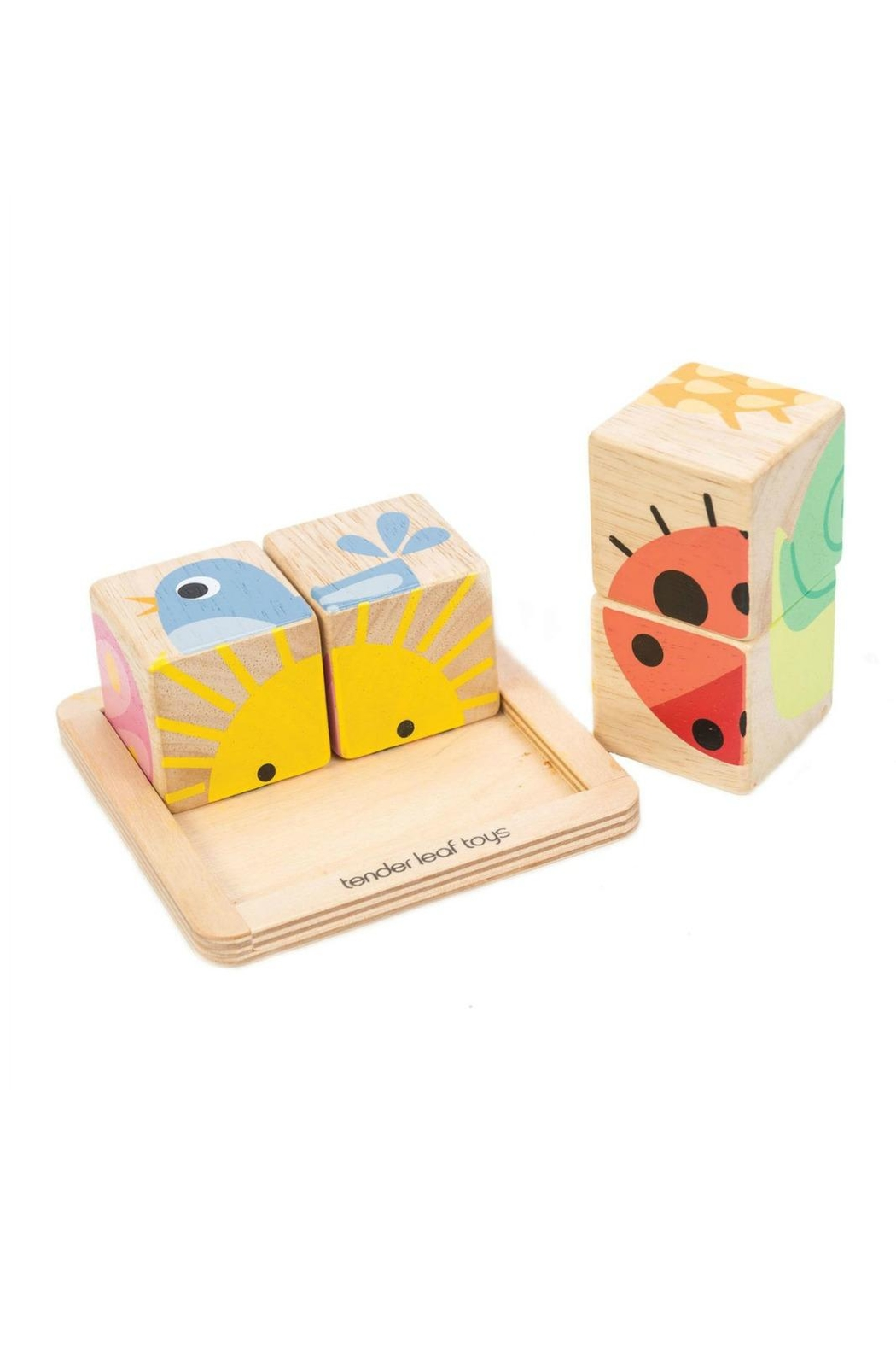 Tender Leaf Toys Wooden Baby Blocks - Front Full Image