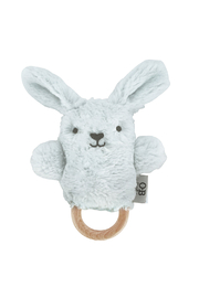 O.B. Designs Wooden Baby Teether- Baxter Blue Bunny - Product Mini Image